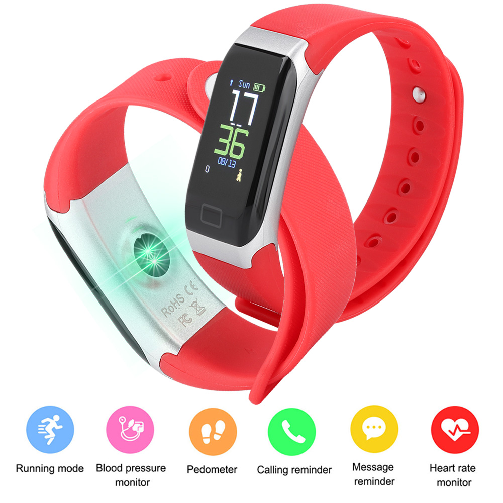 Watch-IP68-Sports-Bracelet-Color-Screen-Heart-Rate-Blood-Pressure-Monitoring thumbnail 15