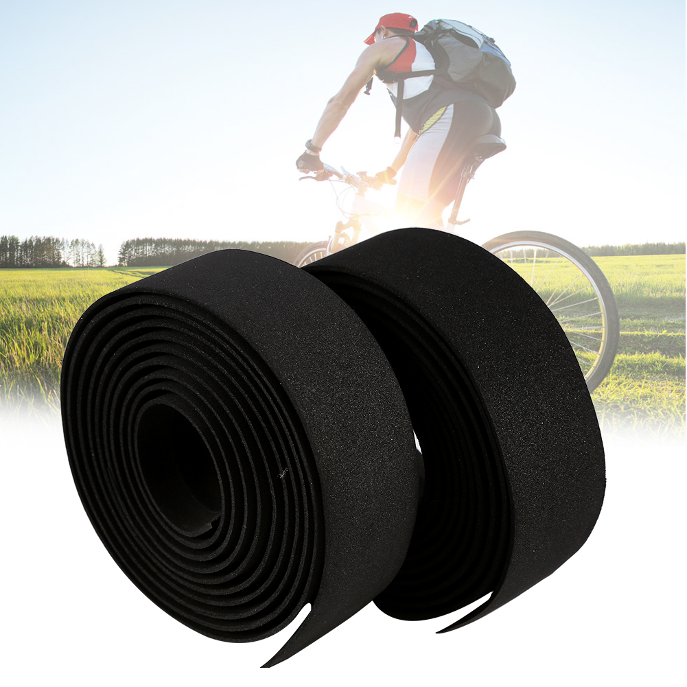 thumbnail 8 - 2PCS MTB Road Bike Bicycle Handlebar Reflective Grip Wrap Tape + 2 Bar Plugs