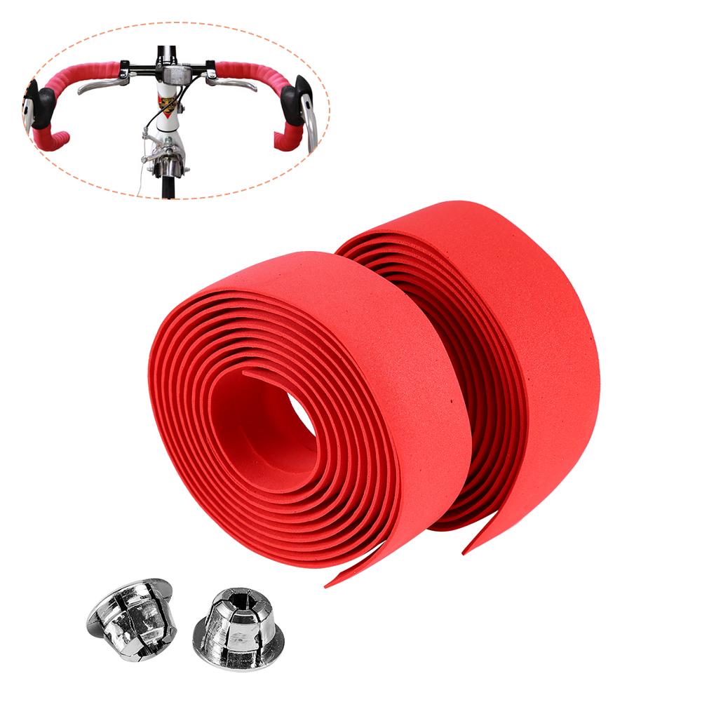 thumbnail 10 - 2PCS MTB Road Bike Bicycle Handlebar Reflective Grip Wrap Tape + 2 Bar Plugs