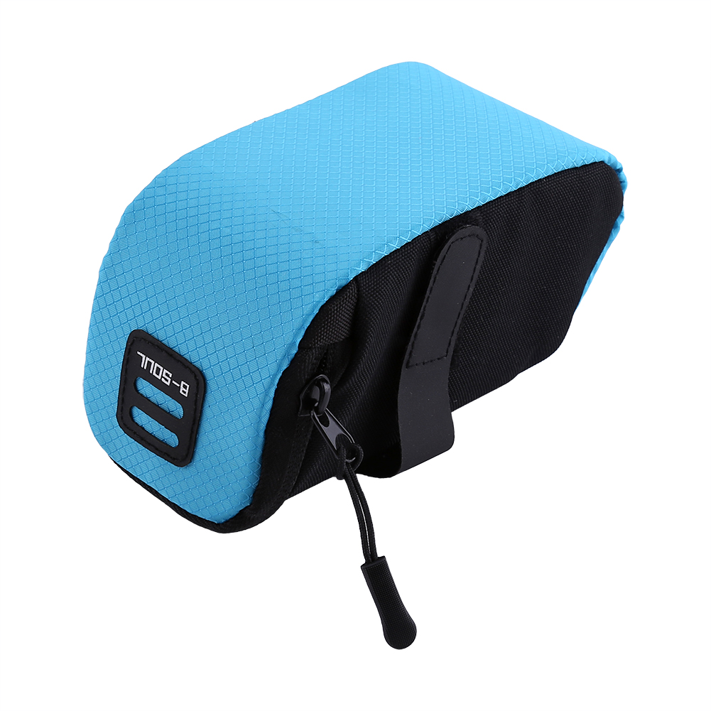 Road Bike Rear Under Seat Bag Bicycle Tail Trunk Pannier Rack Storage Pouch 1.2L