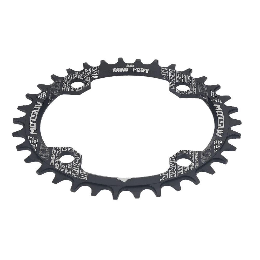MTB-Bike-Narrow-Wide-Round-Oval-Chainring-Ring-104-130mm-22-32-34-36-38-44-53T thumbnail 76