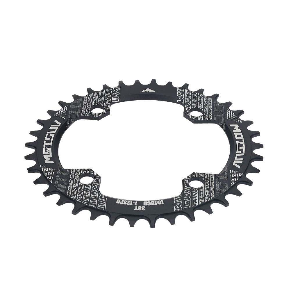 MTB-Bike-Narrow-Wide-Round-Oval-Chainring-Ring-104-130mm-22-32-34-36-38-44-53T thumbnail 79