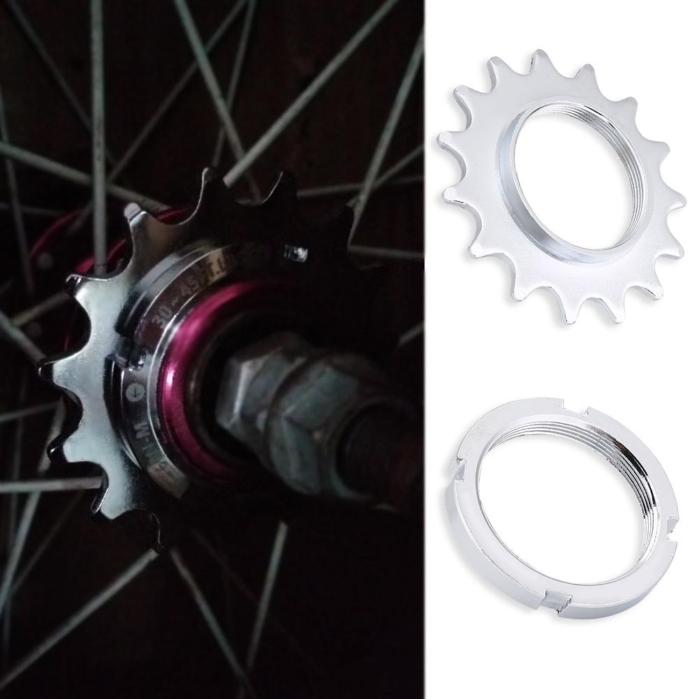 Universal-Fixed-Gear-Cog-13-14-15-16-Track-Bike-Single-Speed-Cogs-Lock-Ring-JA thumbnail 14