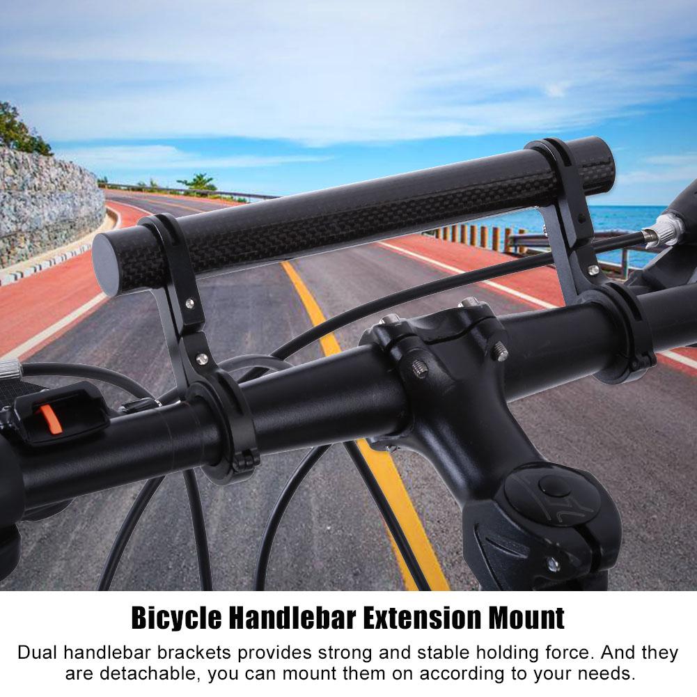 Bike Handle Bar Extender Bicycle Mount Lamp Flashlight Handlebar Bracket Holders