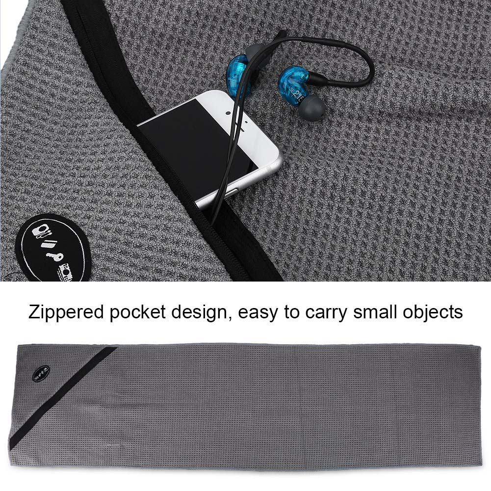 Microfiber-Soft-Towel-Water-Absorption-Fast-Drying-Golf-Towel-W-Zippered-Pocket thumbnail 17