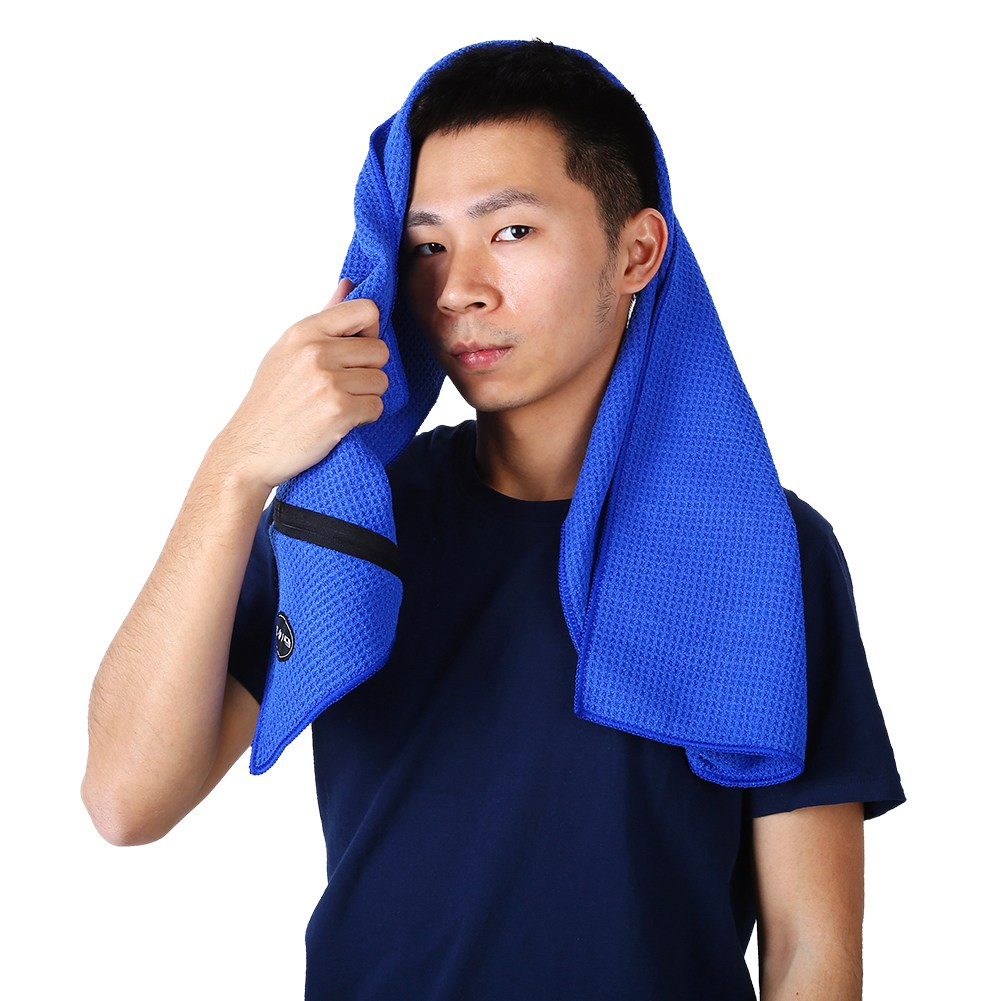 Microfiber-Soft-Towel-Water-Absorption-Fast-Drying-Golf-Towel-W-Zippered-Pocket thumbnail 45