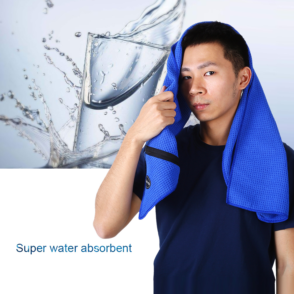 Microfiber-Soft-Towel-Water-Absorption-Fast-Drying-Golf-Towel-W-Zippered-Pocket thumbnail 38