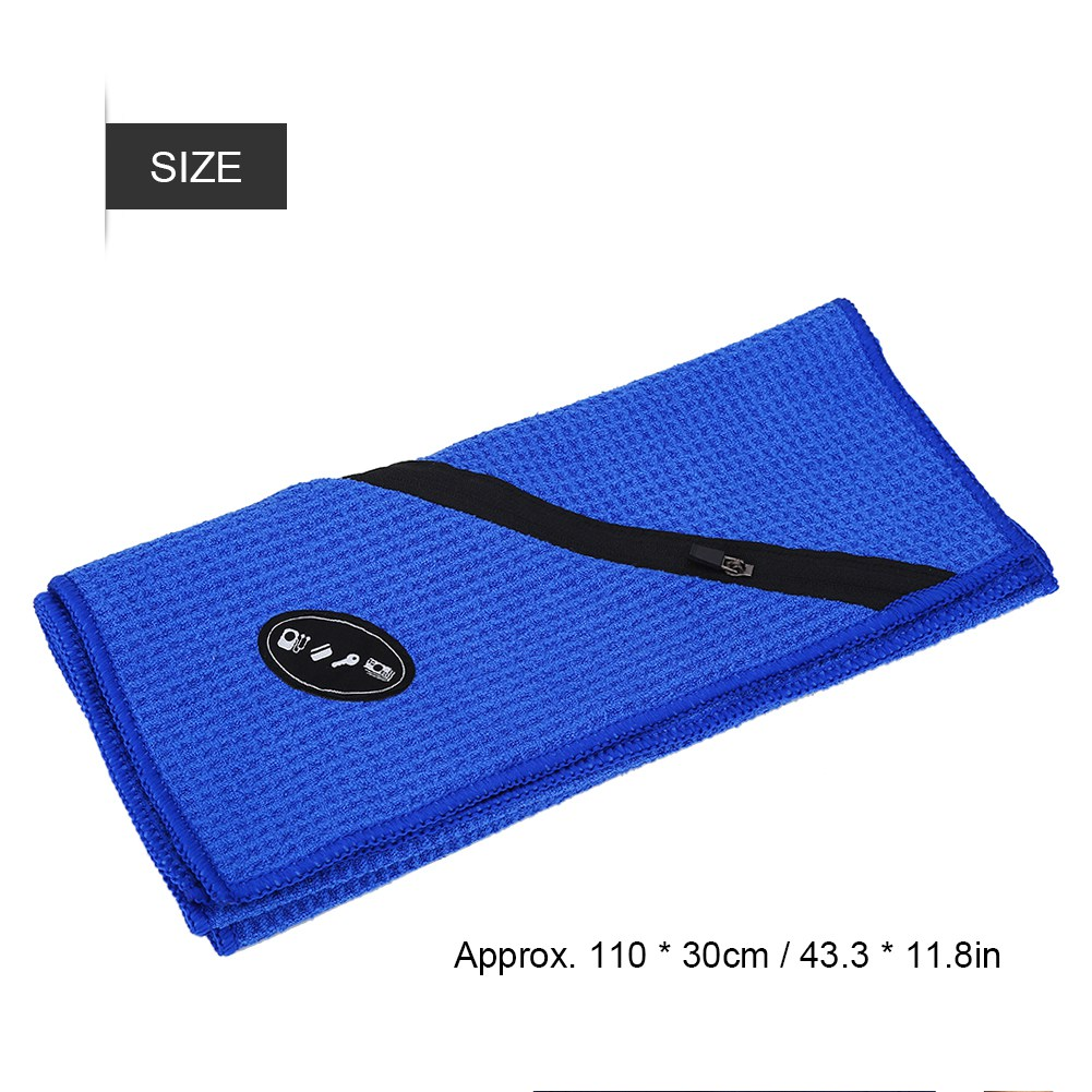 Microfiber-Soft-Towel-Water-Absorption-Fast-Drying-Golf-Towel-W-Zippered-Pocket thumbnail 39