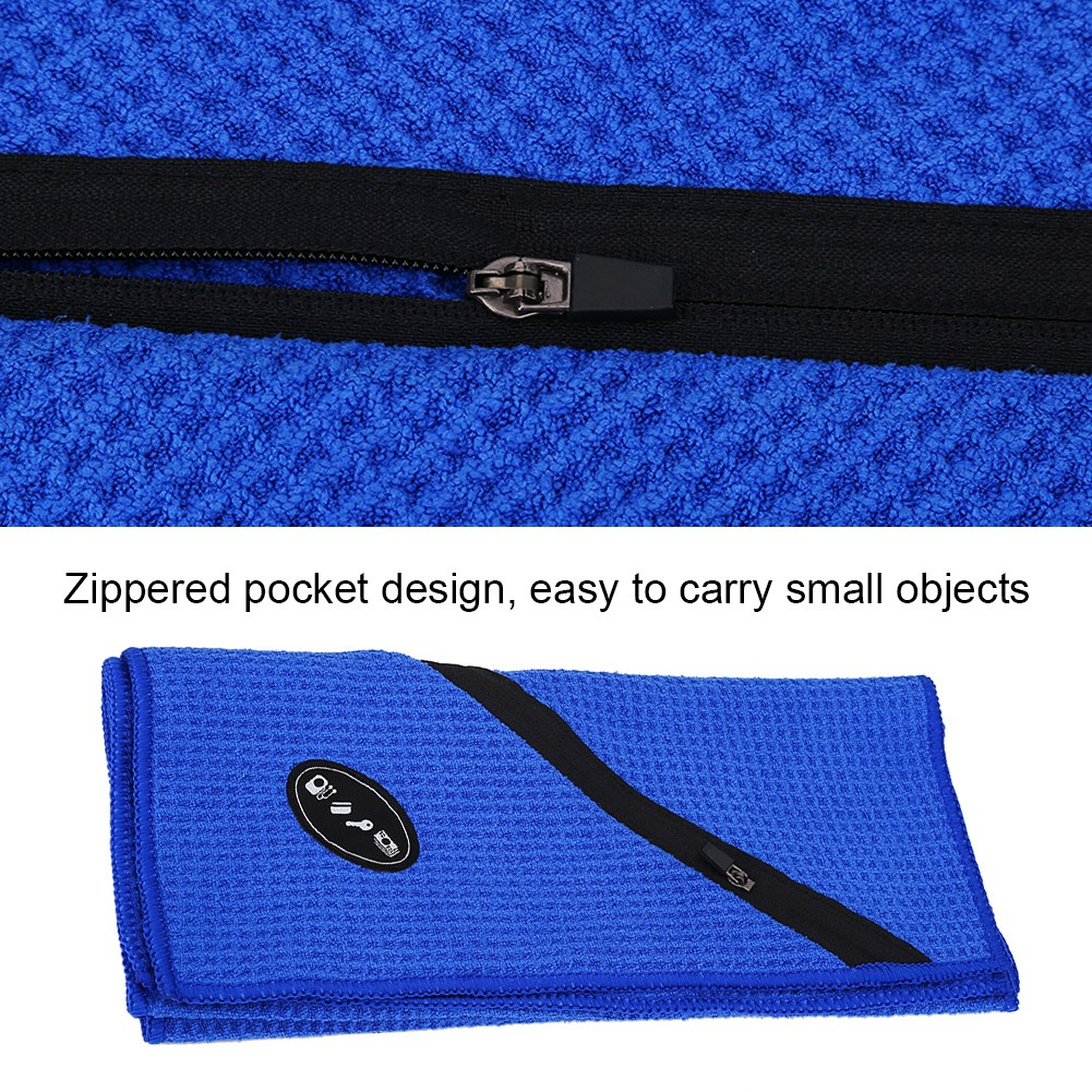 Microfiber-Soft-Towel-Water-Absorption-Fast-Drying-Golf-Towel-W-Zippered-Pocket thumbnail 40