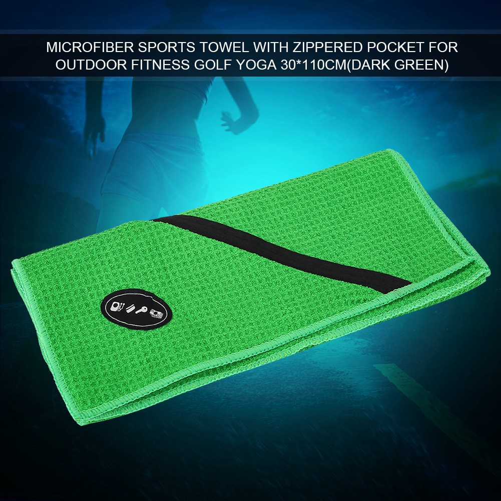 Microfiber-Soft-Towel-Water-Absorption-Fast-Drying-Golf-Towel-W-Zippered-Pocket thumbnail 69