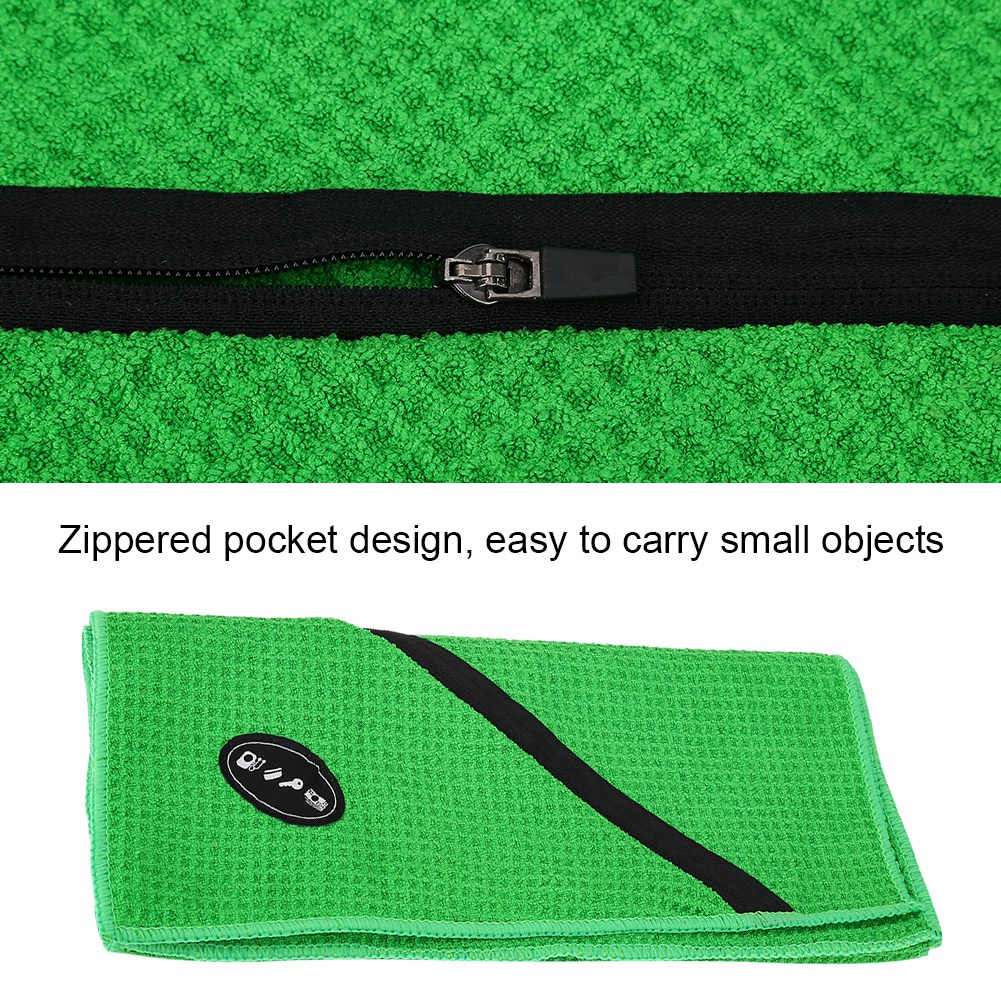 Microfiber-Soft-Towel-Water-Absorption-Fast-Drying-Golf-Towel-W-Zippered-Pocket thumbnail 73