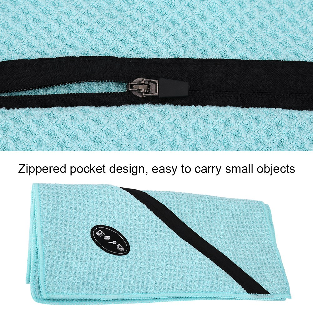 Microfiber-Soft-Towel-Water-Absorption-Fast-Drying-Golf-Towel-W-Zippered-Pocket thumbnail 84