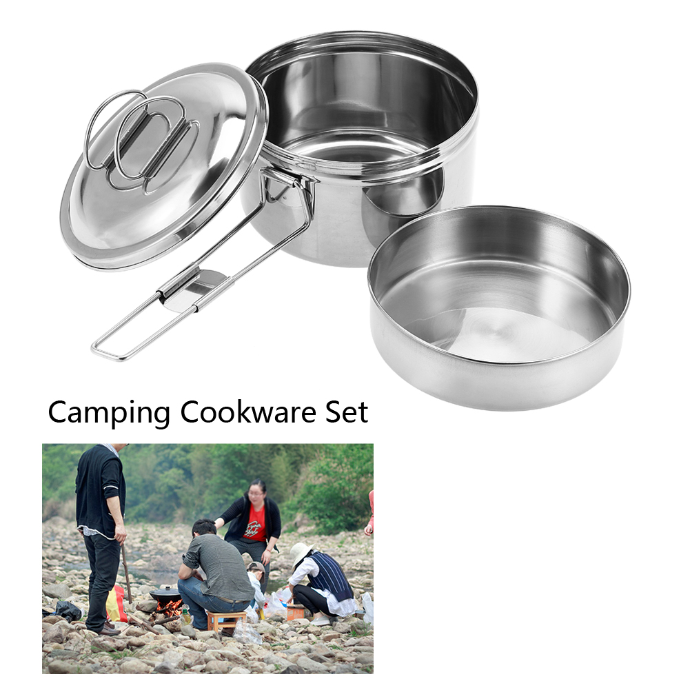 Cookware-Outdoor-Picnic-BBQ-Bowl-Pot-Pan-Camping-Hiking-Cooking-Backpacking-OB