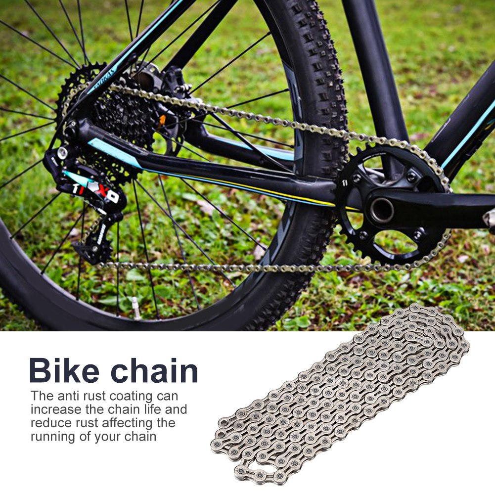 Mountain Bike Road Bicycle Chain 116 Links 9 10 11 Speed Replacement Parts