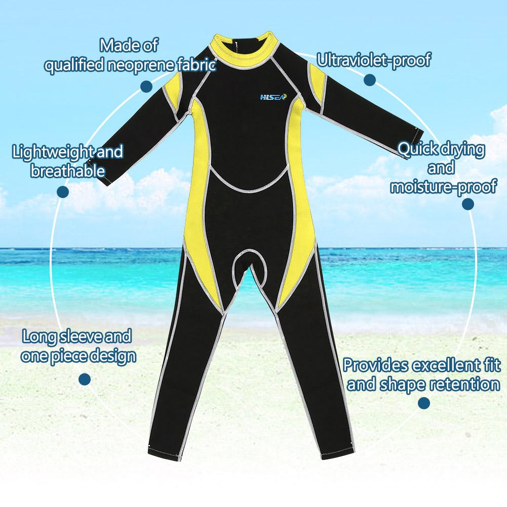 Kids-Scuba-One-piece-Diving-Suit-Neoprene-Snorkeling-Wetsuit-Surfing-Swimwear thumbnail 14