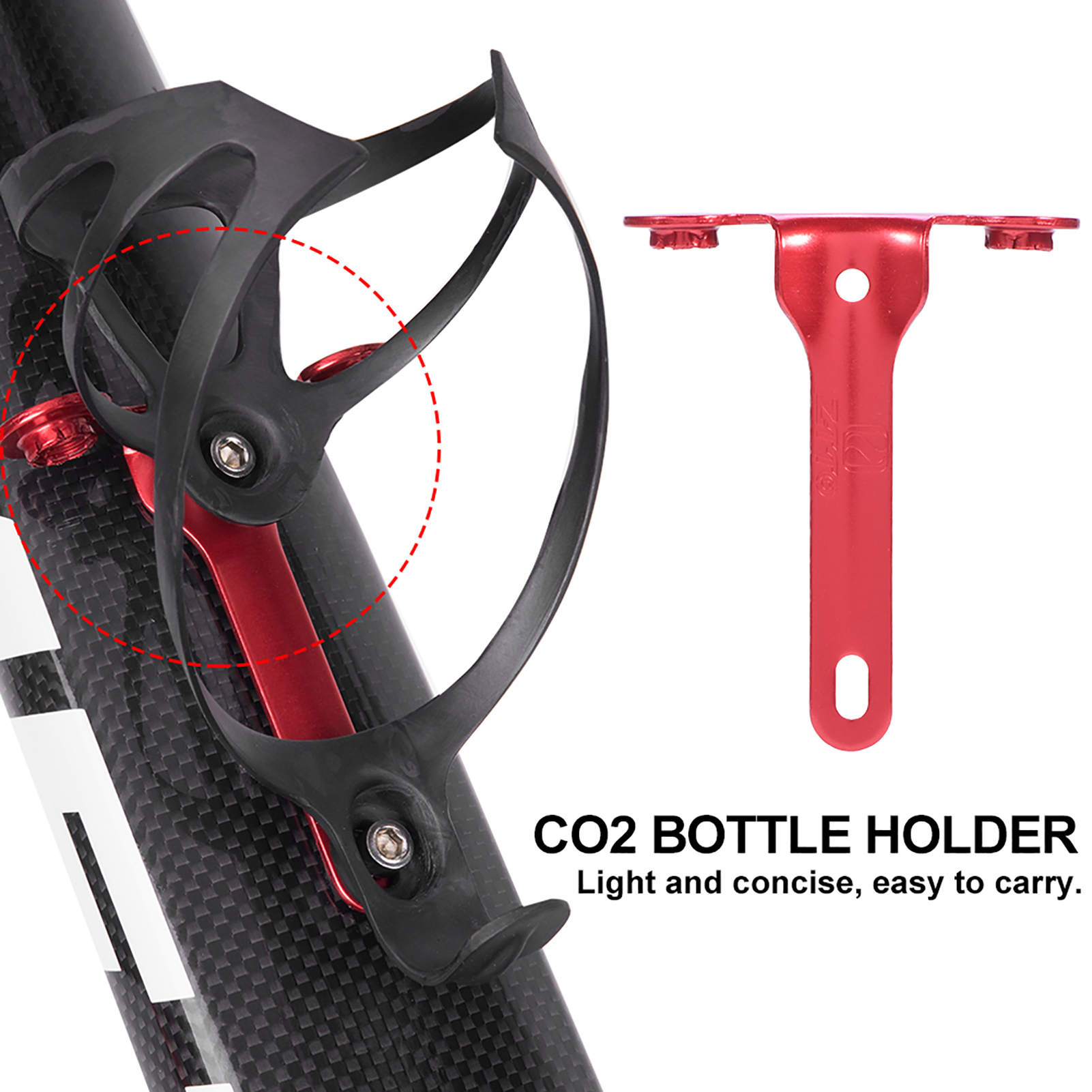 ZTTO-2Colors-CO2-Bike-Bicycle-Water-Bottle-Cage-Holder-Metal-Lightweight-Bracket