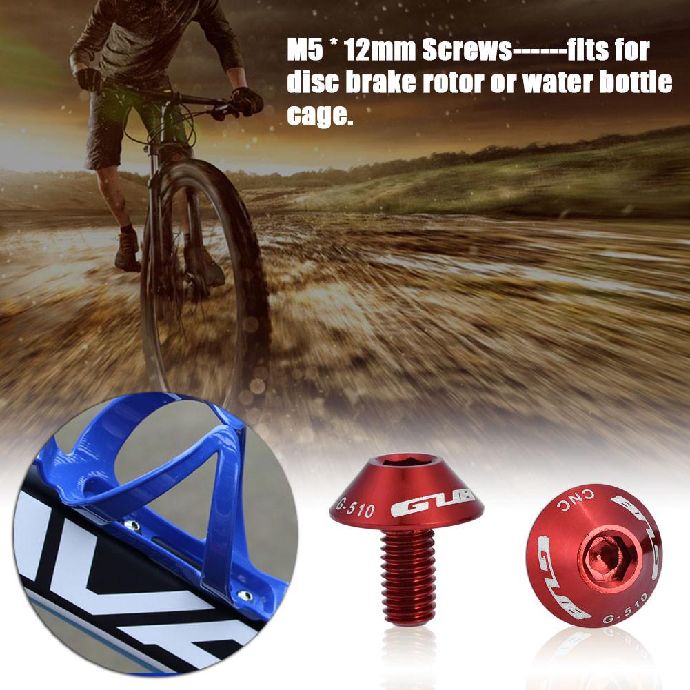 2Pcs M5x12mm Cycling Bike Bicycle Water Bottle Cage Bolt Holder Bracket Screw LJ