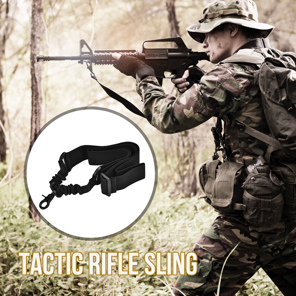 Tactics-1-Point-Single-Bungee-Rifle-Gun-Sling-Strap-Quick-Release-Buckle-JA thumbnail 9