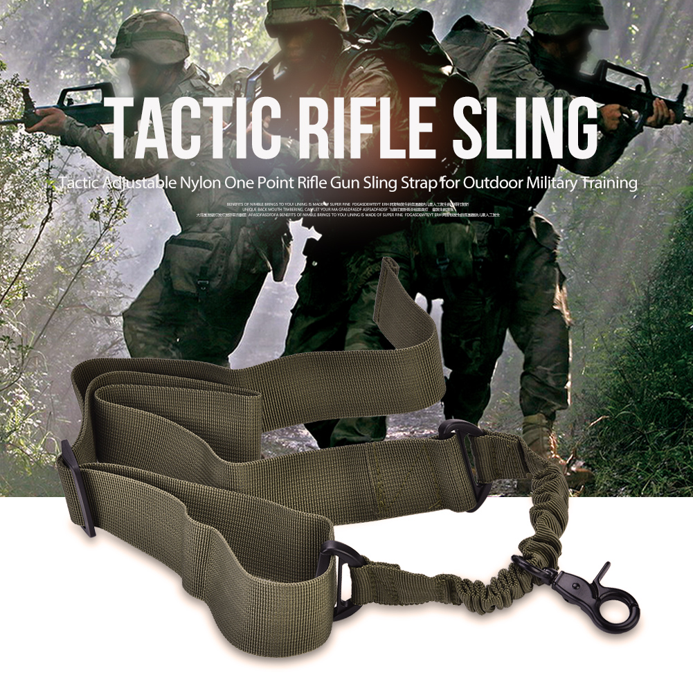 Tactics-1-Point-Single-Bungee-Rifle-Gun-Sling-Strap-Quick-Release-Buckle-JA thumbnail 25