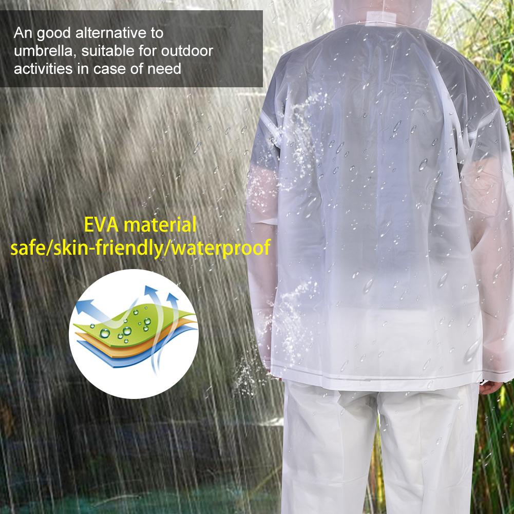 Sports-Rainwear-Rain-Suit-Jacket-amp-Pants-Gear-Rain-Wear-Rain-Coat-White-L-XL-SD