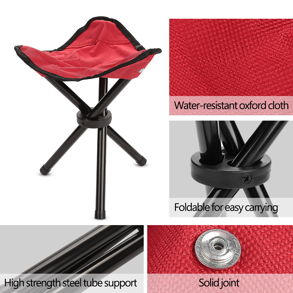 Travel Slacker Chair Folding Tripod Camp Stool Seat Hiking Portable Outdoor SD