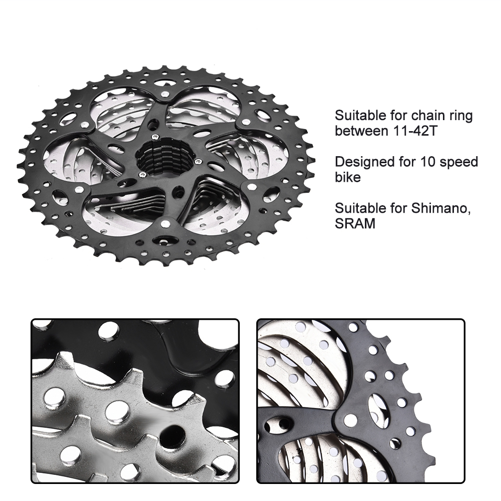 Mountain-Road-Bike-Cassette-8-9-10-Speed-Bicycle-Cassettes-Freewheel-For-SHIMANO thumbnail 15