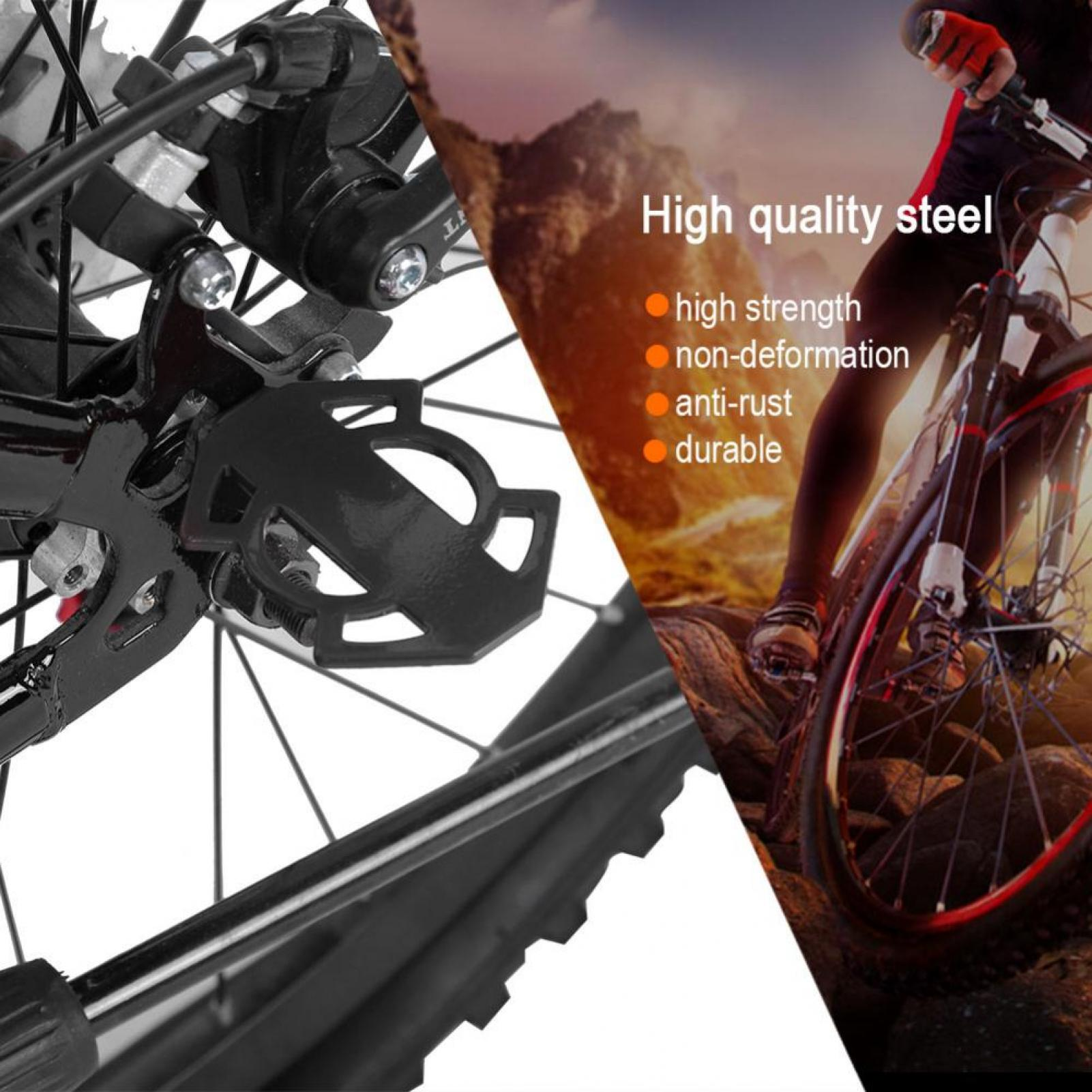 Bicycle-Rear-Foot-Bike-Pedal-Mountain-Road-Cycling-Metal-Back-Stand-Saddle-OB thumbnail 15
