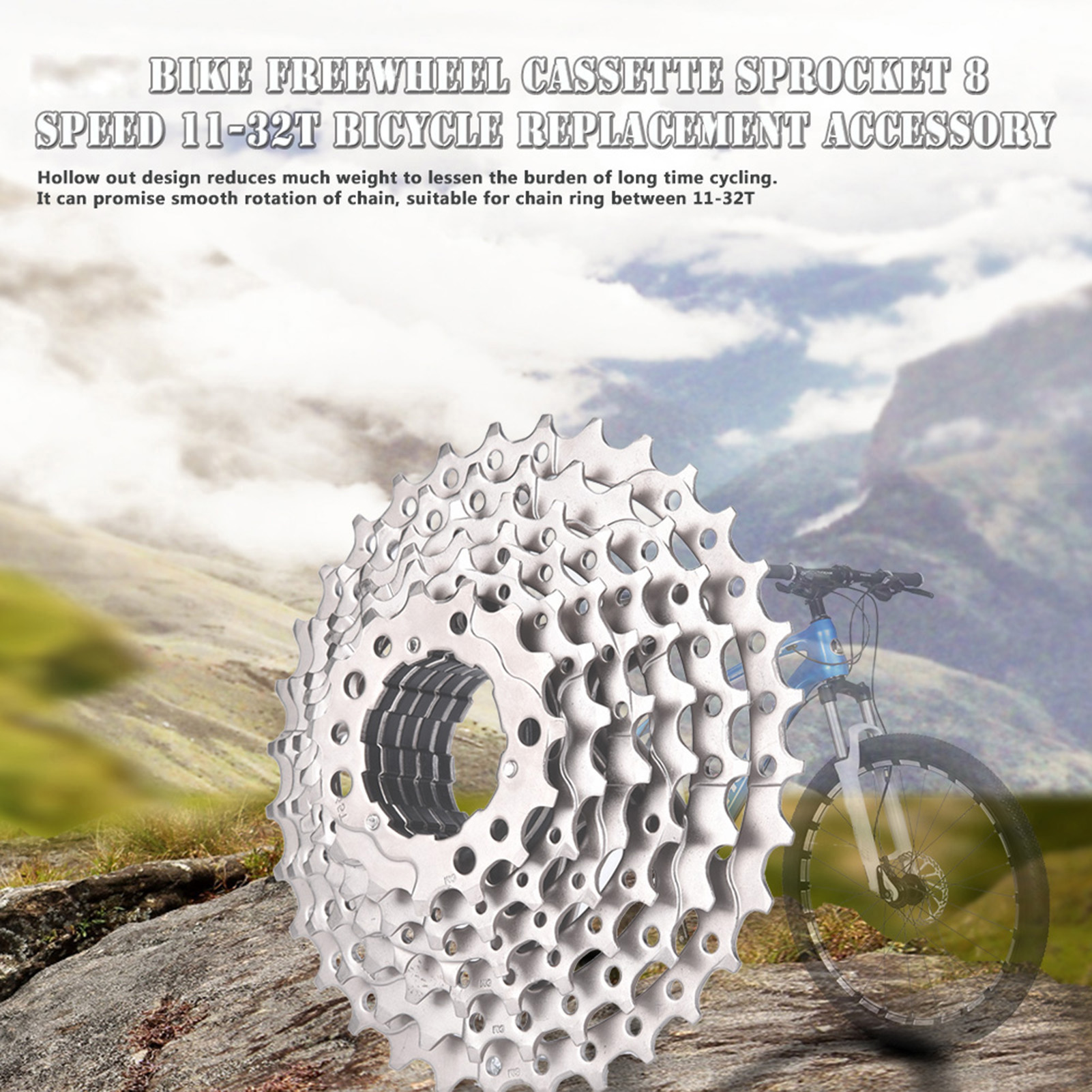 Mountain-Road-Bike-Cassette-8-9-10-Speed-Bicycle-Cassettes-Freewheel-For-SHIMANO thumbnail 21