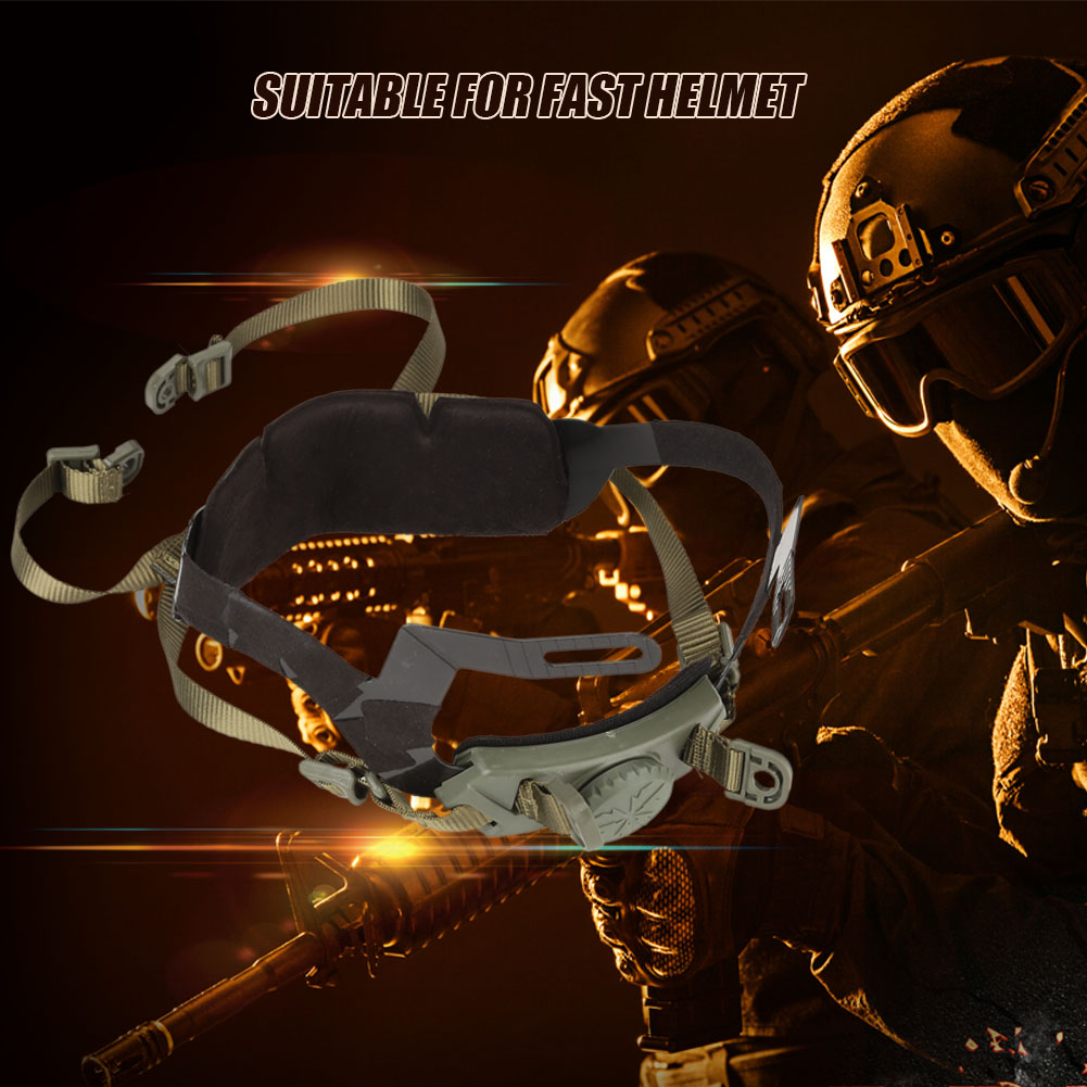 Military-Tactic-Airsoft-Paintball-Helmet-Locking-Chin-Strap-System-Fast-Helmet thumbnail 17