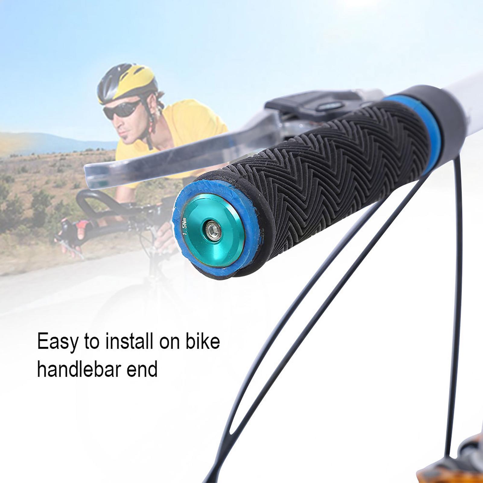 1 Pair Bike Bar End Plugs Bicycle Handlebar End Caps Mountain Road Bike Grips