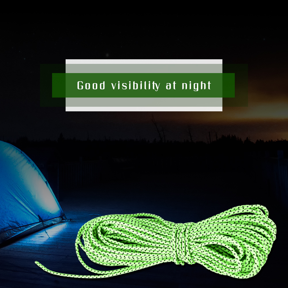 2-5MM-Camping-Tent-Awning-Reflective-Guyline-Rope-Cord-Paracord-Strap-Green-SP thumbnail 18