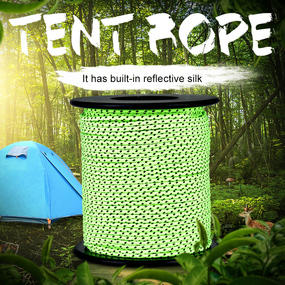 2-5MM-Camping-Tent-Awning-Reflective-Guyline-Rope-Cord-Paracord-Strap-Green-SP thumbnail 14