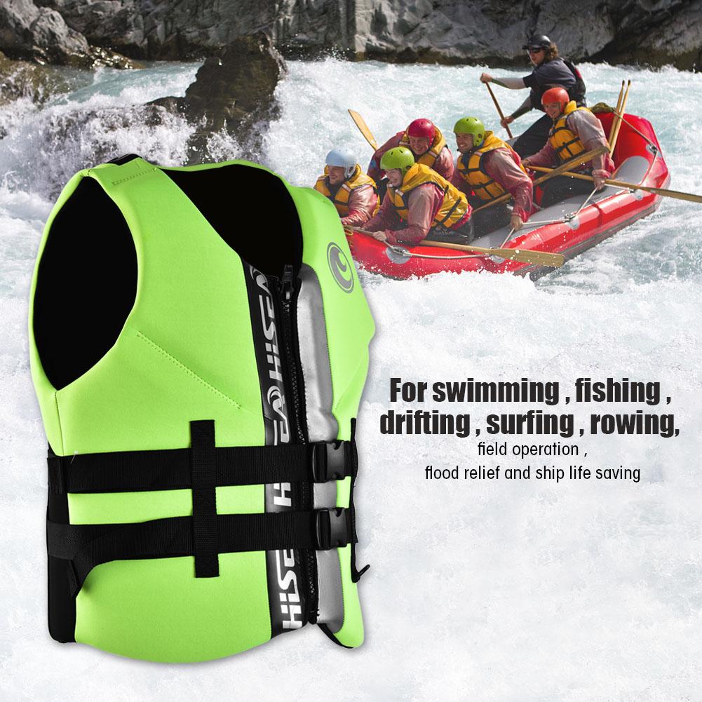 Adult Diving Kayak Life Jacket Aid Buoyancy Sailing Drifting Lifesaving Vest