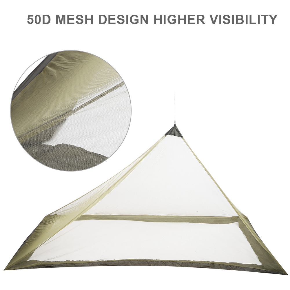 Camping-Hammock-Anti-Mosquito-Insect-Net-Tent-Mesh-Single-Sleeping-Canopy-Bed-DY thumbnail 14