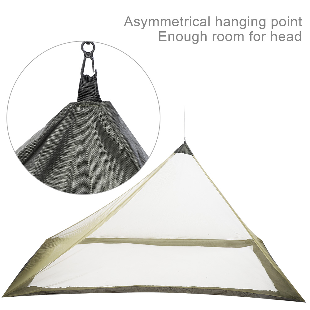 Camping-Hammock-Anti-Mosquito-Insect-Net-Tent-Mesh-Single-Sleeping-Canopy-Bed-DY thumbnail 15