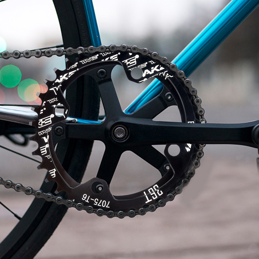 MTB-Bike-Narrow-Wide-Round-Oval-Chainring-Ring-104-130mm-22-32-34-36-38-44-53T thumbnail 20