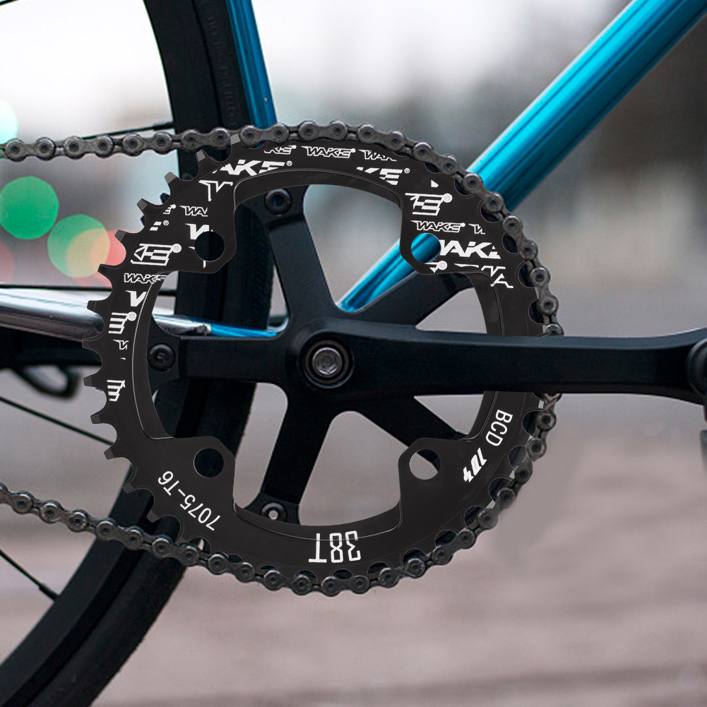 MTB-Bike-Narrow-Wide-Round-Oval-Chainring-Ring-104-130mm-22-32-34-36-38-44-53T thumbnail 22