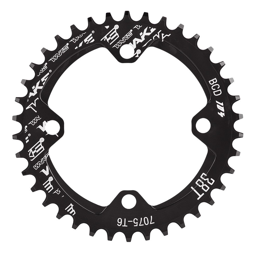 MTB-Bike-Narrow-Wide-Round-Oval-Chainring-Ring-104-130mm-22-32-34-36-38-44-53T thumbnail 23
