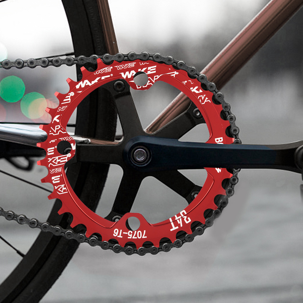 MTB-Bike-Narrow-Wide-Round-Oval-Chainring-Ring-104-130mm-22-32-34-36-38-44-53T thumbnail 29