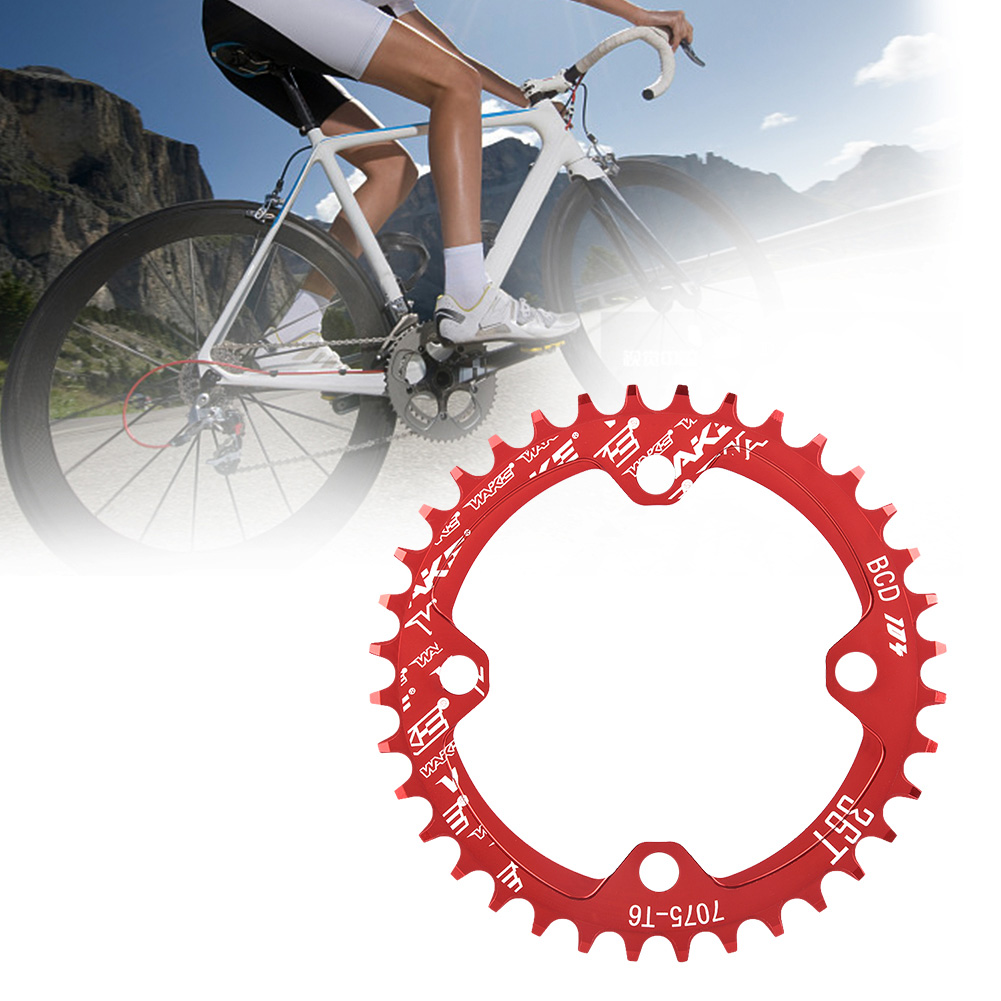 MTB-Bike-Narrow-Wide-Round-Oval-Chainring-Ring-104-130mm-22-32-34-36-38-44-53T thumbnail 31