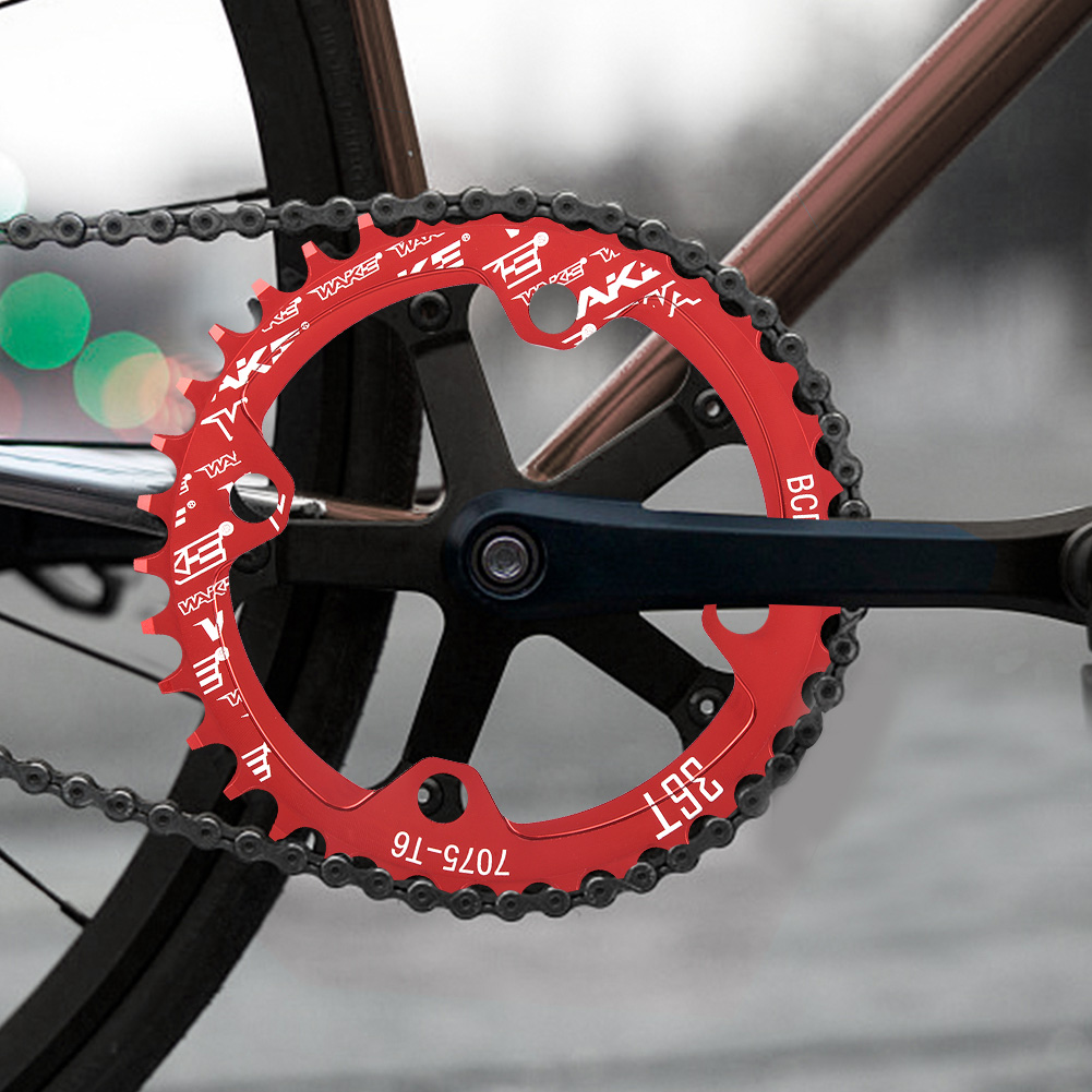 MTB-Bike-Narrow-Wide-Round-Oval-Chainring-Ring-104-130mm-22-32-34-36-38-44-53T thumbnail 32