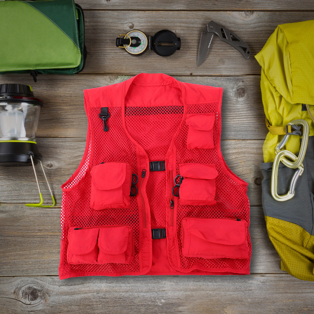 Men-Outdoor-Multi-Pocket-Vest-Travelers-Fly-Fishing-Photography-Quick-Dry-Jacket thumbnail 27