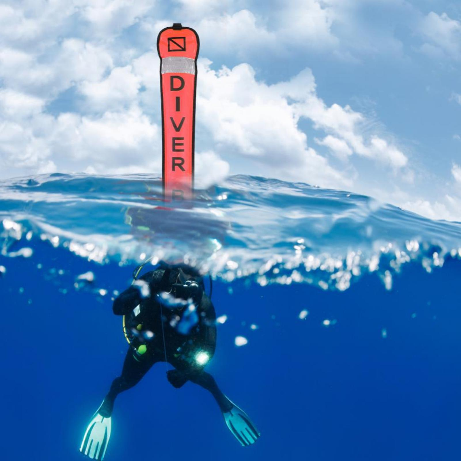 Scuba diving diver inflatable signal tube smb surface for Dive tube