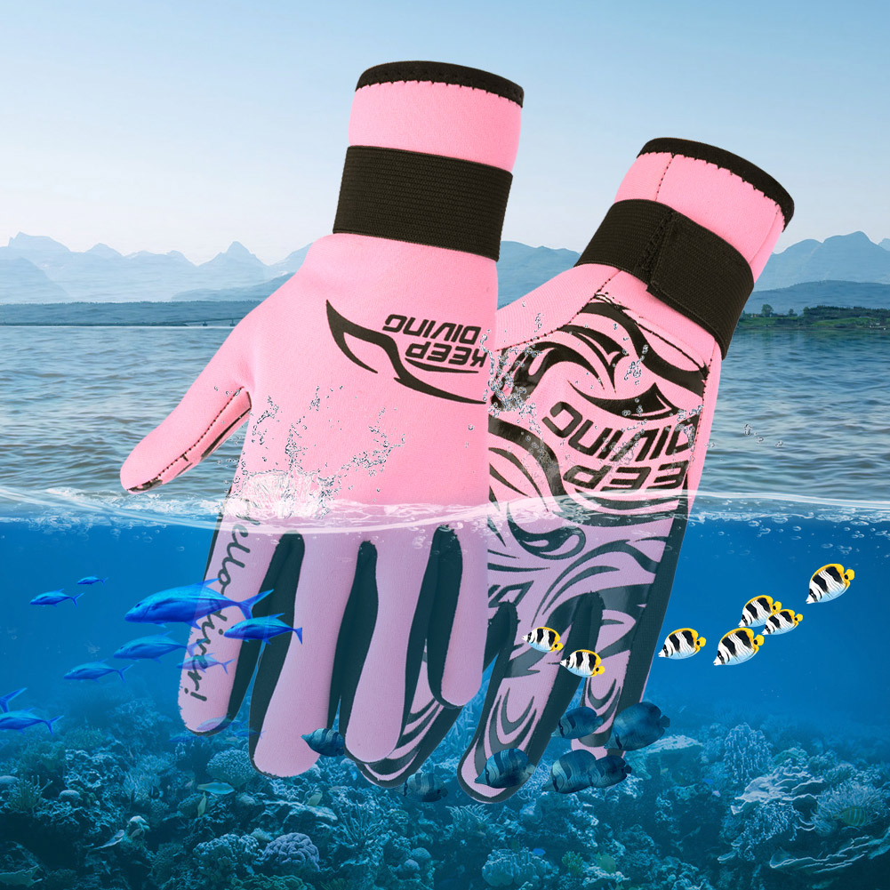 Swiming-Diving-Surfing-Snorkeling-Kayaking-Gloves-2MM-Neoprene-Equipment thumbnail 18