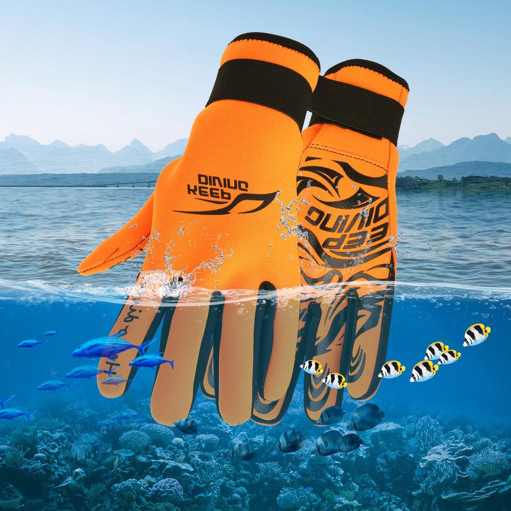 Swiming-Diving-Surfing-Snorkeling-Kayaking-Gloves-2MM-Neoprene-Equipment thumbnail 21