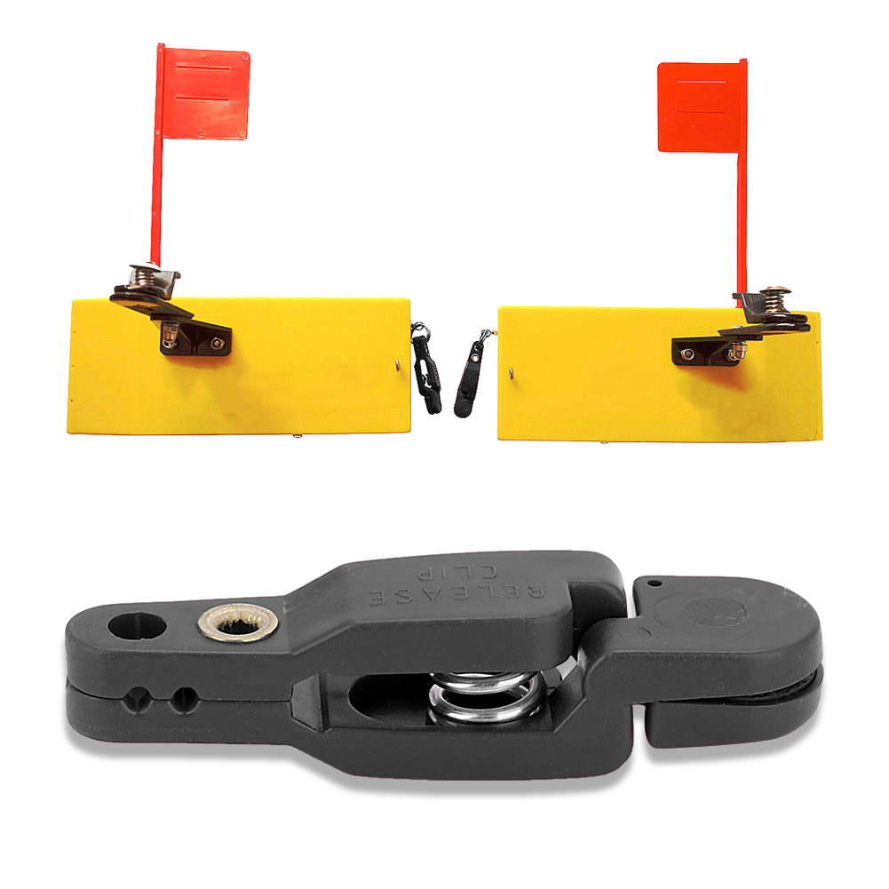 CSJ-CSJ 6pcs Power Grip Planer Board Snap Trolling Weight Release Clip Outrigger Clips Boards