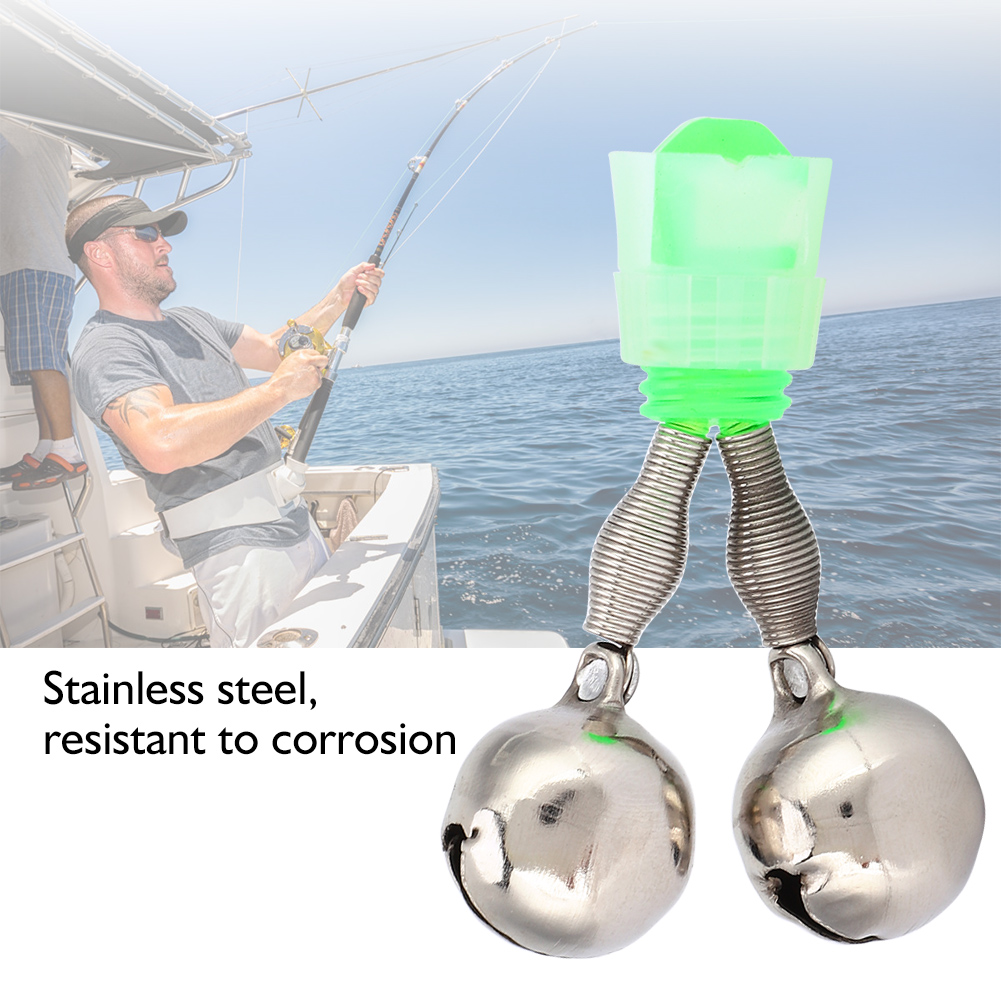 Double Bell Pole Assembly Clip Fishing Alarm Bell for Sea Fi