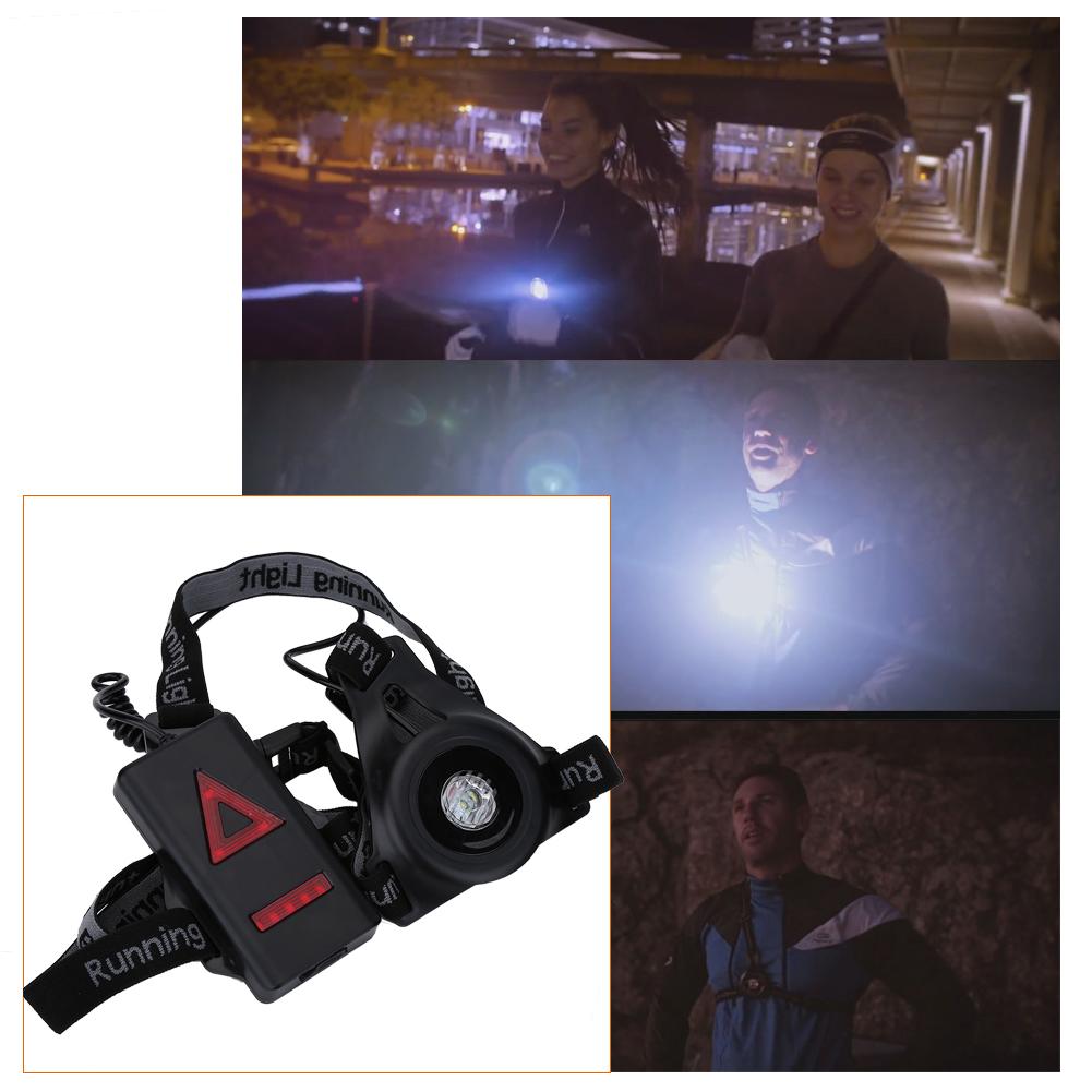5d6a1609815 LED Lumière De Nuit Courir Running Sports Rechargeable USB Lampe De ...