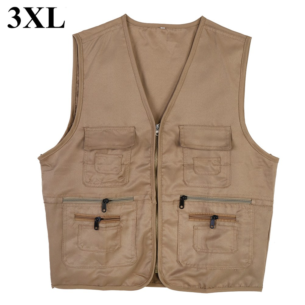 Men-Outdoor-Multi-Pocket-Vest-Travelers-Fly-Fishing-Photography-Quick-Dry-Jacket thumbnail 36