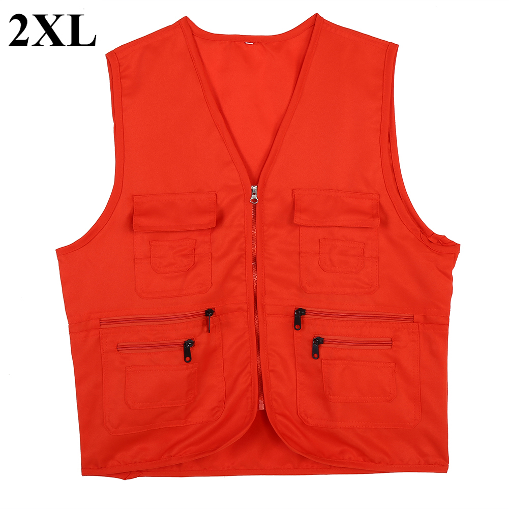Men-Outdoor-Multi-Pocket-Vest-Travelers-Fly-Fishing-Photography-Quick-Dry-Jacket thumbnail 39
